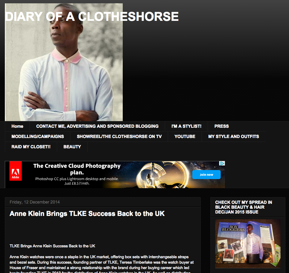 TLKE and Anne Klein feature on Diary of a Clotheshorse