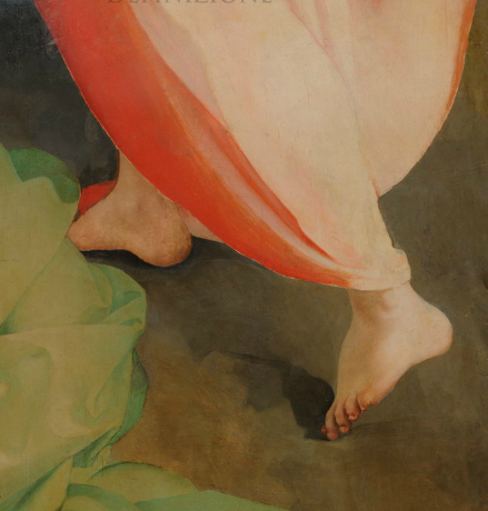 mindful steps, detail from pontormo