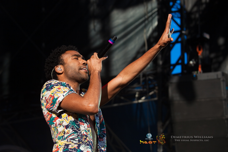 Childish Gambino getting the crowd warmed up
