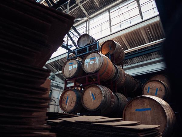 Barrels at Broc Cellars in Berkeley