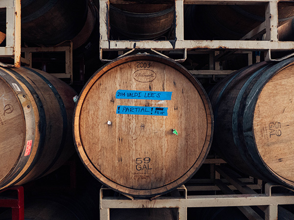 Valdiguie in barrel at Broc Cellars