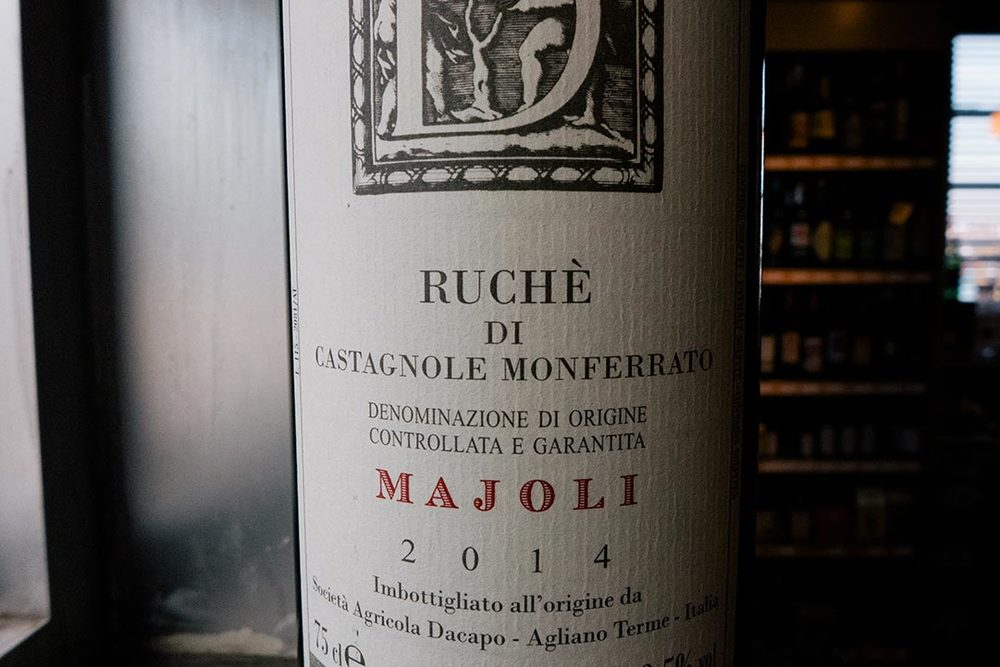 Ruché's high-toned mix of flowers and spice are epitomized in Dacapo's bottling.