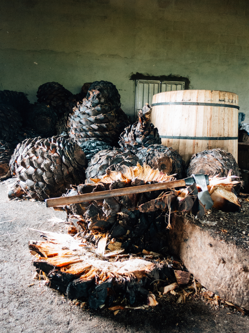 Cooked piñas