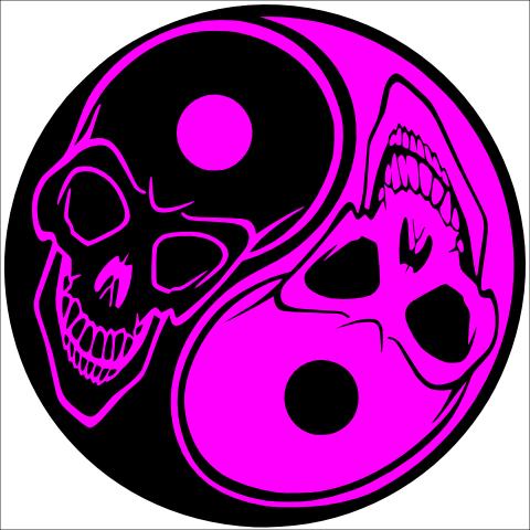 Yin Yang Skulls