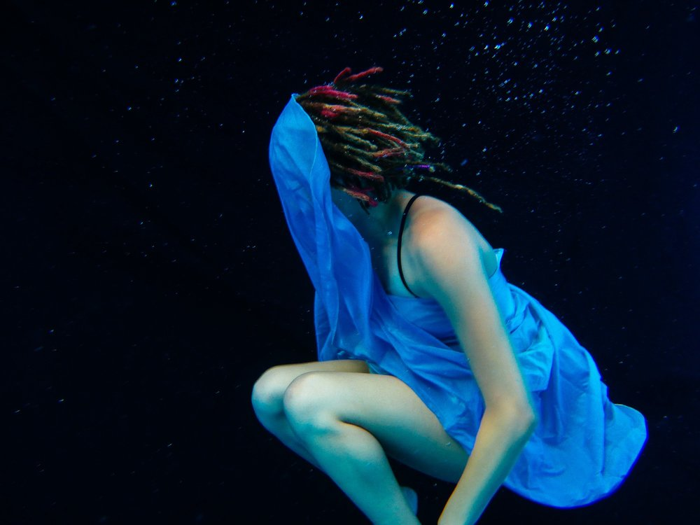 My first attempt at an underwater levitation. Clearly, we had some issues to work through.