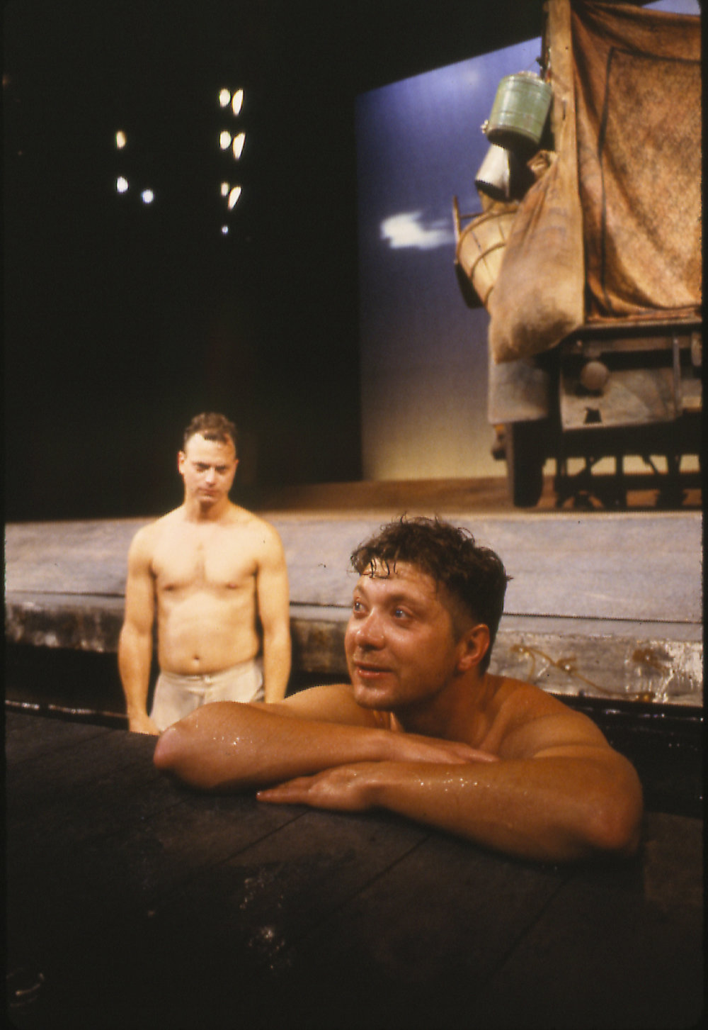 Gary Sinise & Jeff Perry in John Steinbeck's  The   Grapes of Wrath  by Frank Galati at Steppenwolf Theatre (1988).