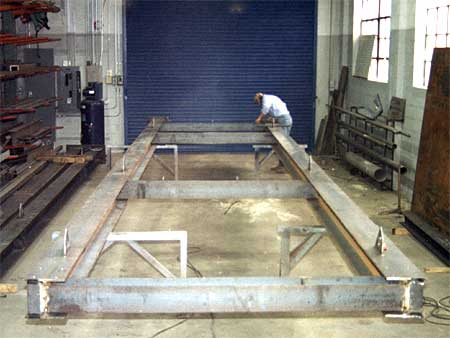 Beginning stages of structural skid processing system for Engineering Systems.