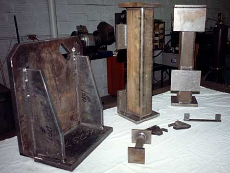 Machined plate weldments for miscellaneous equipment.