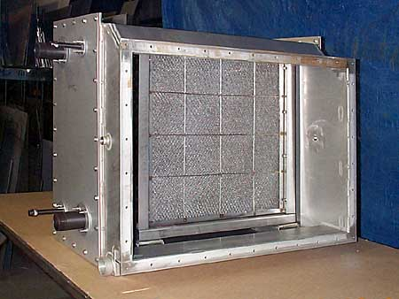 Back View: Stainless Steel Cabinet with filter for heating & cooling system