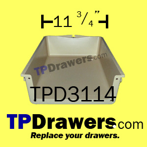 Replacement plastic drawer box inserts - 6 sizes available.