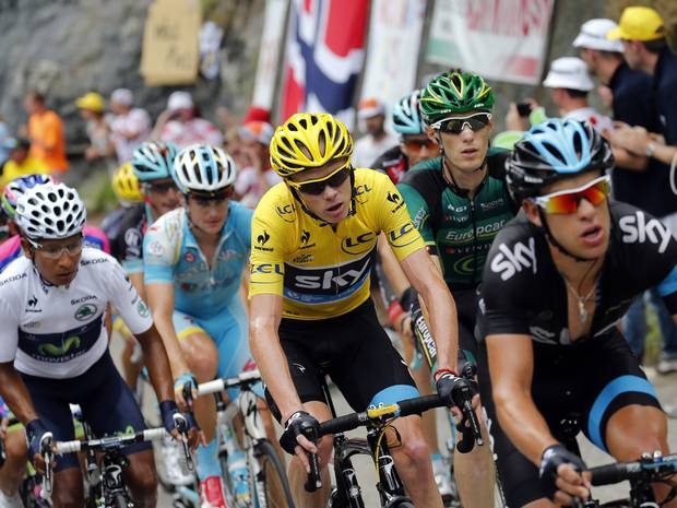 On the Alp d'Heuz stage of the 2013 Tour De France Chris Froome famously 'bonked' only to be rescued by team mate Ritchie Porte who broke race rules to bring Froome much needed energy gel enabling Froome to maintain his lead even after penalties had been incurred.