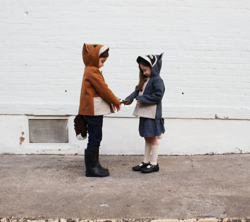 Little Goodall Fox and Raccoon Coat