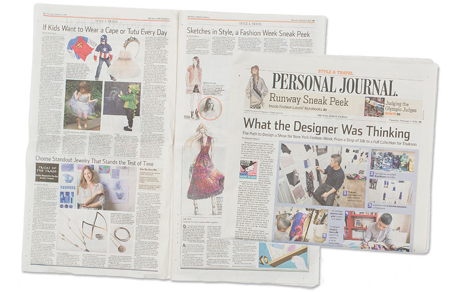 Wall Street Journal, Style & Travel, February 2014 See more of this article here.