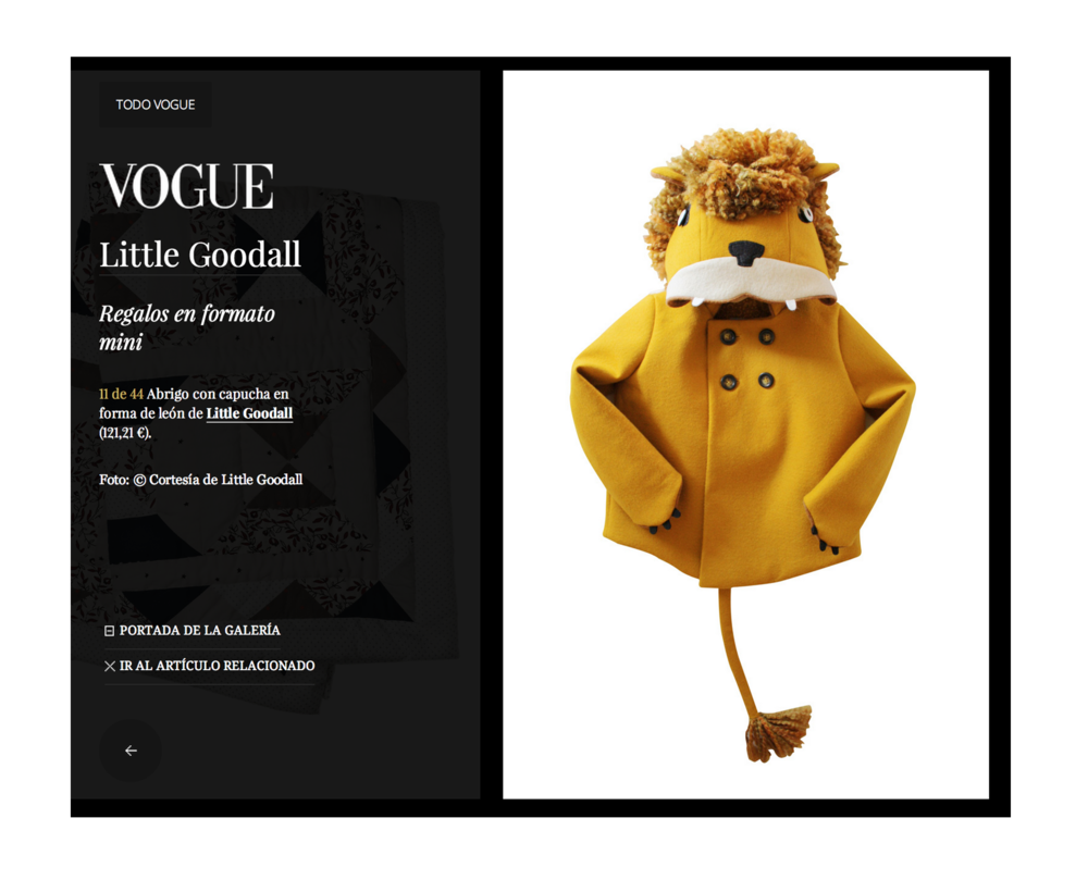 "Spanish Vogue, ""Regalos en formato mini"" - Gifts for Children See more of this article here."