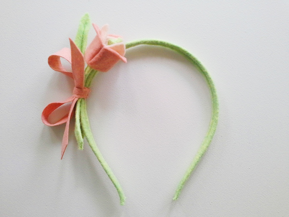 Sweet and Simple Tulip Headband