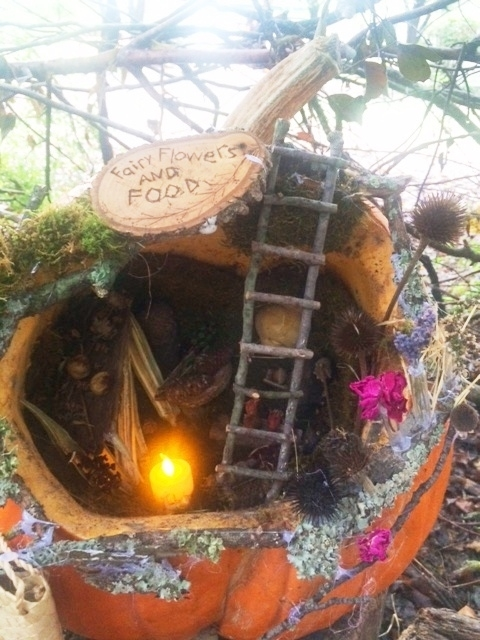 This fantastic fairy florist and cafe was created by a family at my son's school.