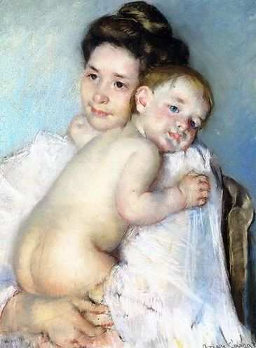 Mother Berthe Holding her Baby, 1900