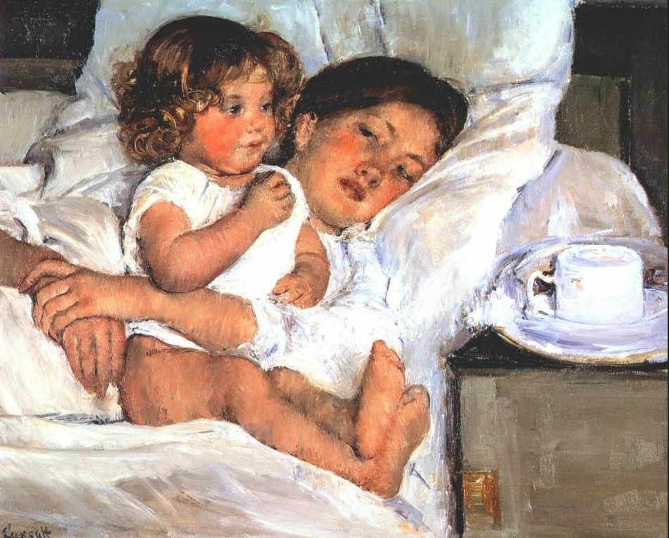 Breakfast in Bed, 1897, Mart Cassatt. See this painting at The Huntington in San Marino, CA
