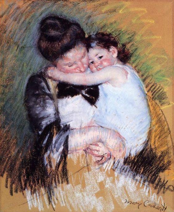 Mother and Child, 1900, Pastel, Mary Cassatt