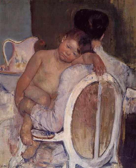 Mother Holding her child in her Arms, 1890, Mary Cassatt