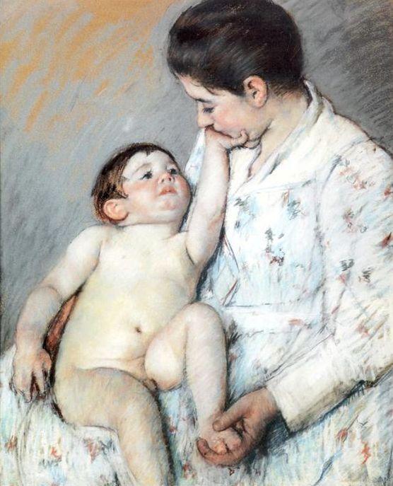 Baby's First Caress, 1891 Mary Cassatt