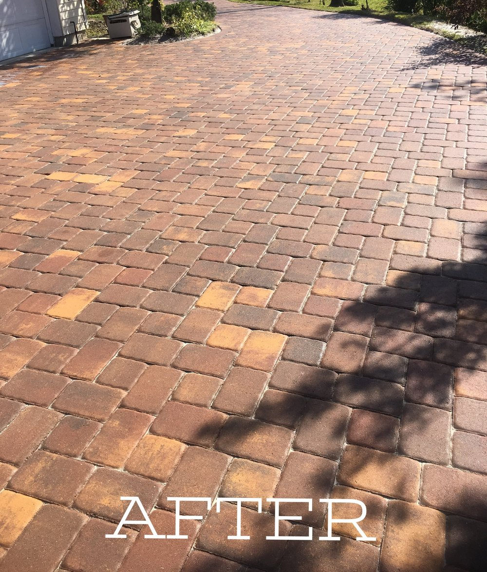 Sealed paver driveway in Melbourne FL