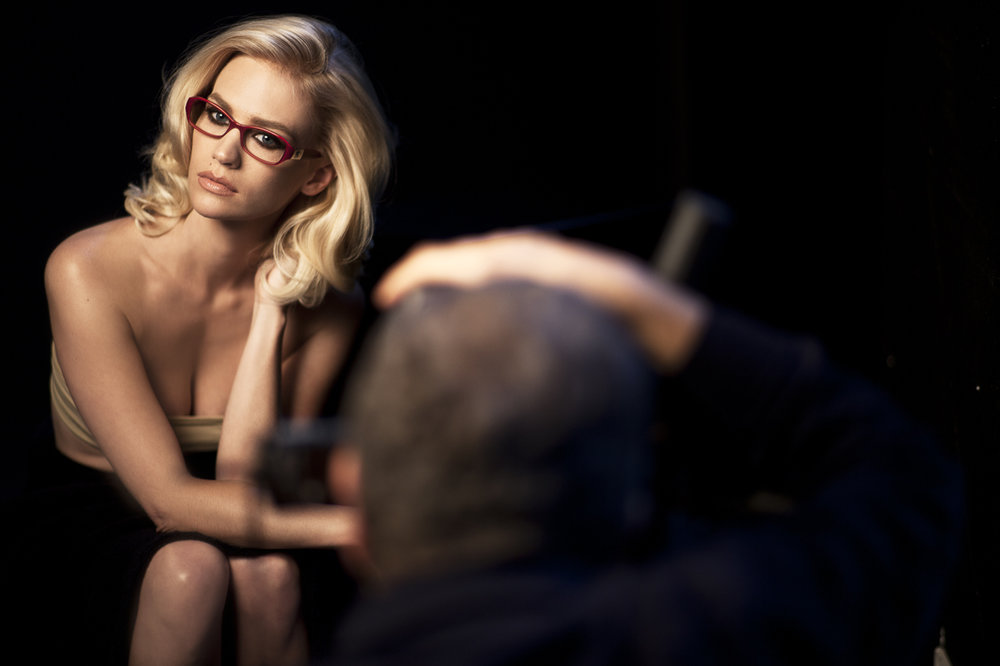 January Jones for Versace behind the scenes