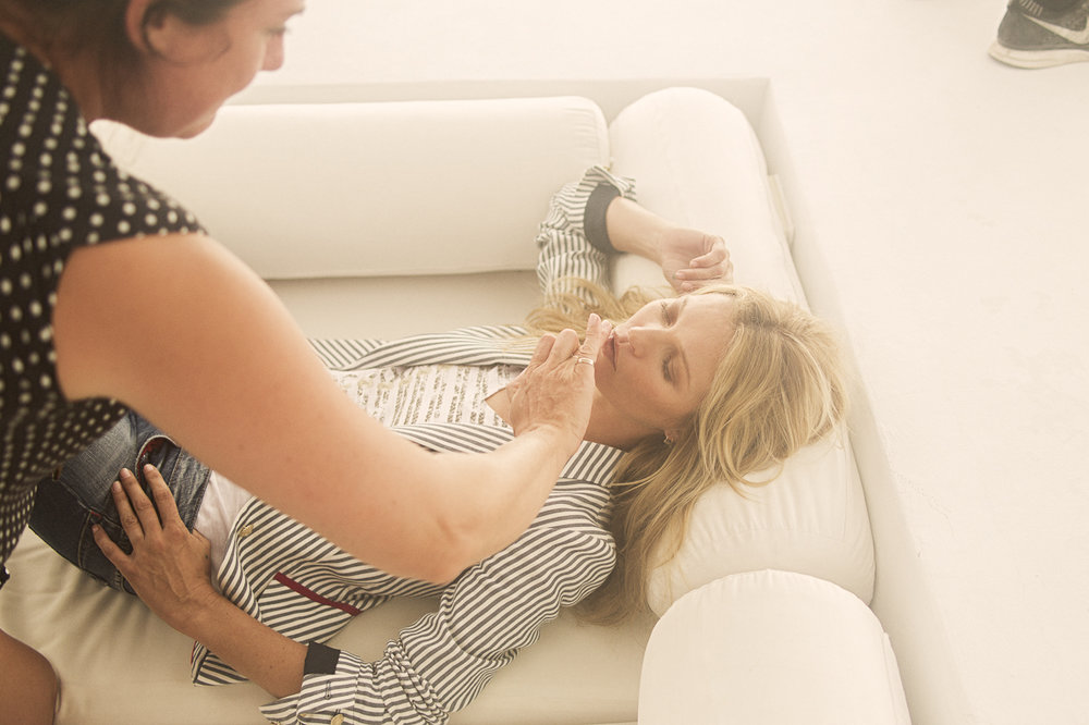 Kate Moss behind the scenes for Liu Jo in Ibiza