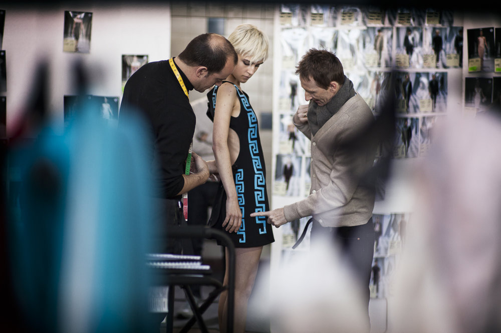Versace behind the scenes