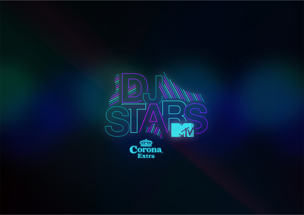 Logotype for a proposal show for MTV, Corona Dj Stars