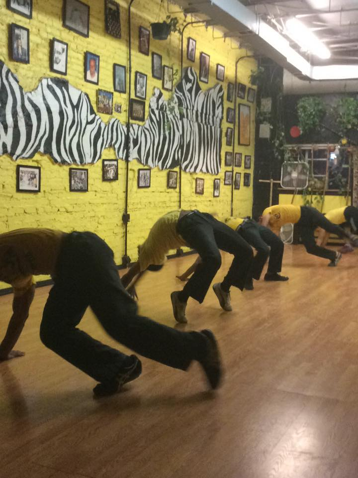 Stalking my bestie's capoeira class on U Street.