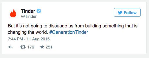 #GenerationTinder is born.