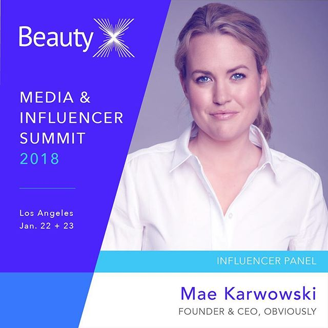 Our fearless leader @maewow is moderating the influencer panel at the BeautyX Summit next week! If you're in the LA area, check the link in bio for more info. See you there 😎