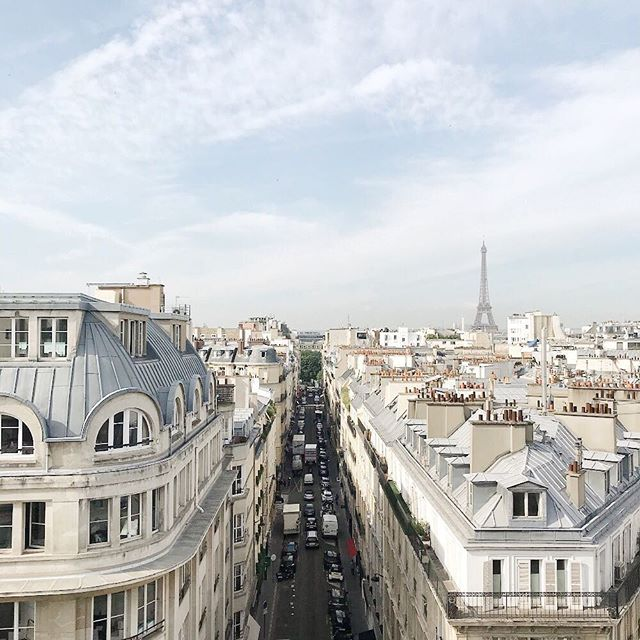 Can you guess where?! The view from Obviously's new Paris office😍