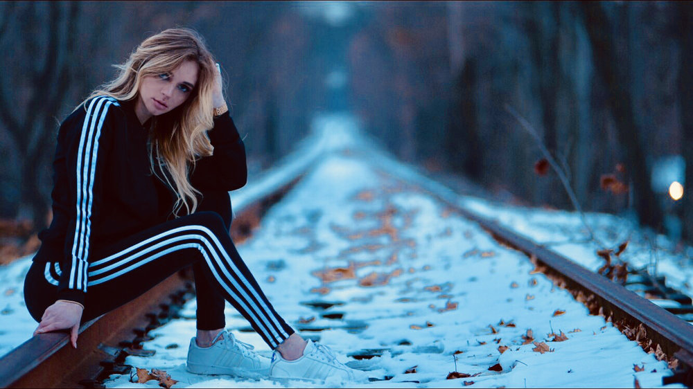 Just being pretty yet tough on this railroad track....