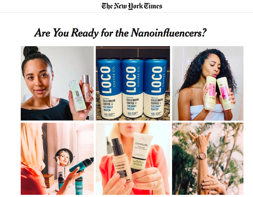 Obviously influencers in The New York Times