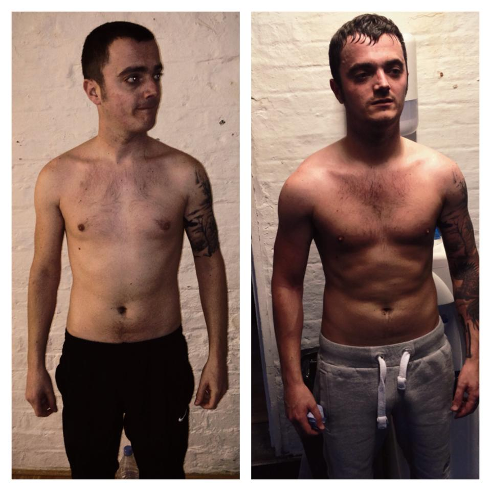 Rob before on the left, three months later on the right.