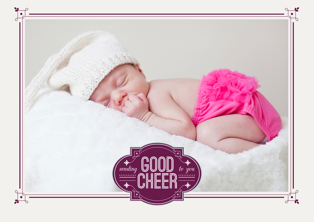 Sleeping Infant Holiday Card