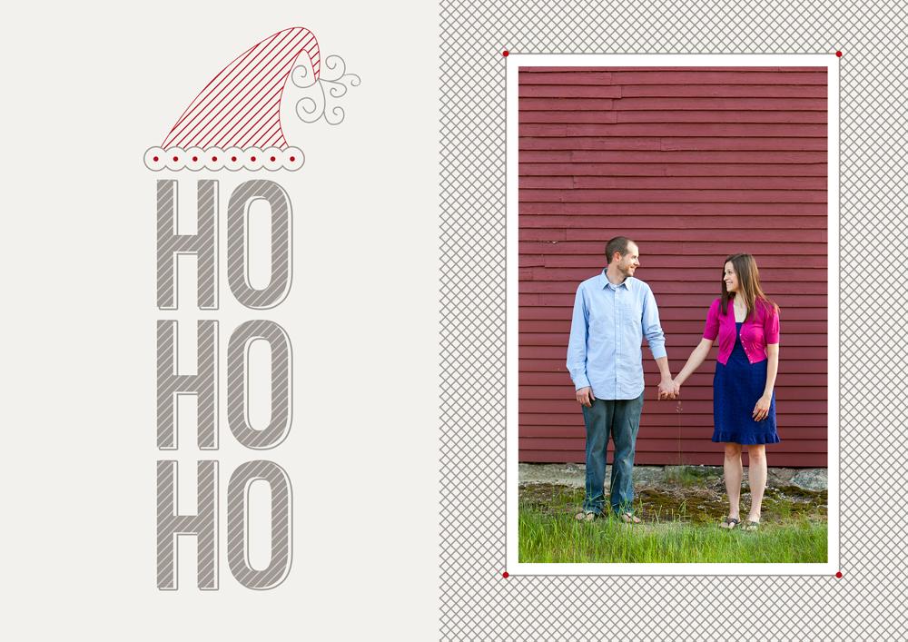 Ho Ho Ho Holiday Card