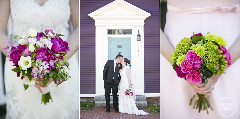 Sheraton Portsmouth Harborside Wedding Flower Kiosk New Hampshire