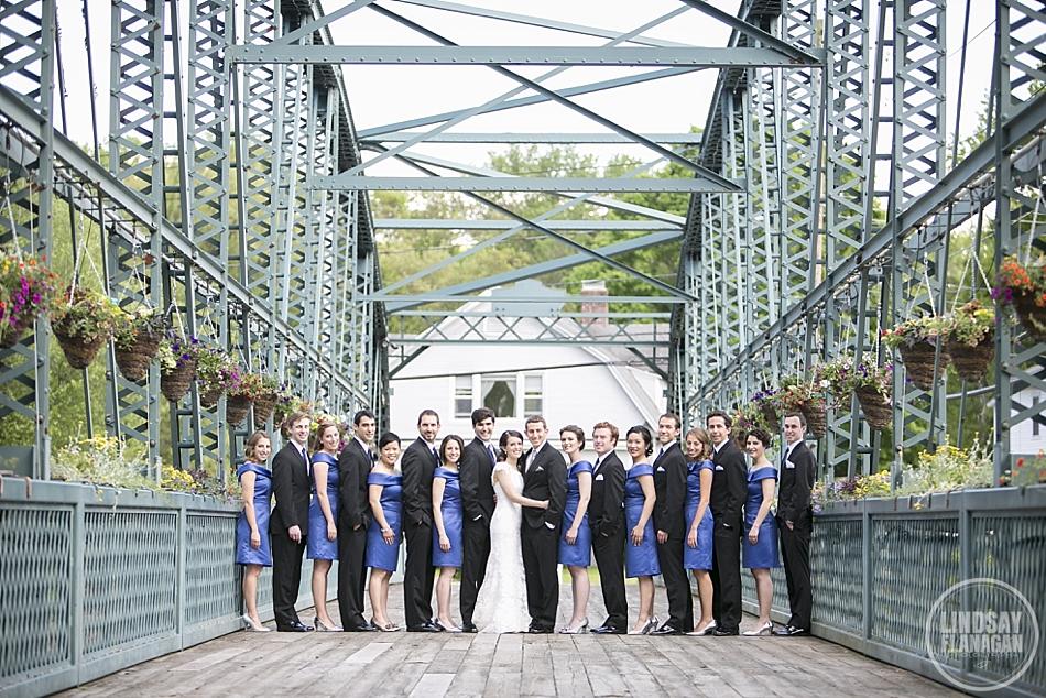 Wedding Party Portrait on The Flower Bridge