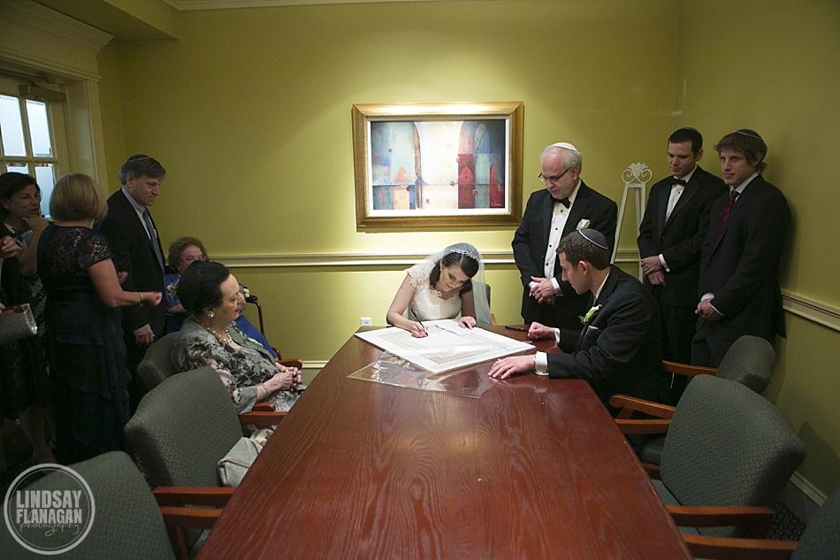 Ketubah signing at wedding