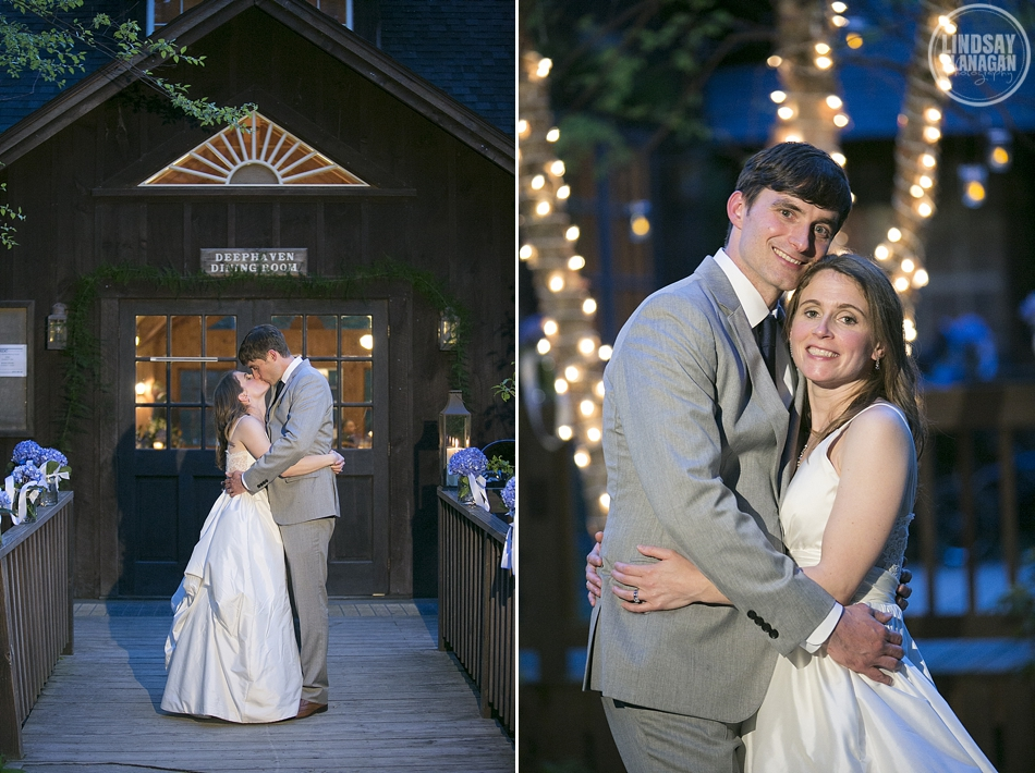 Rockywold Deephaven camp wedding bride and groom portrait