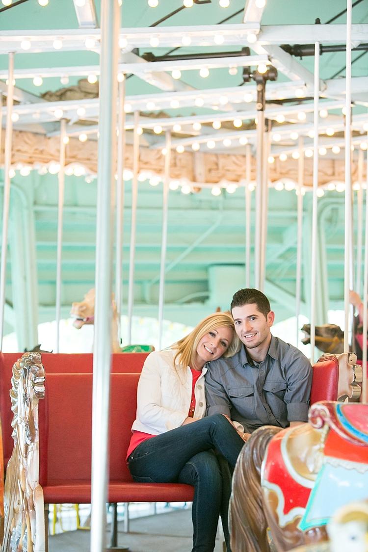 Amusement Park Engagement Carousel