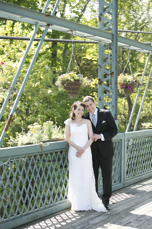 Riverview-Connecticut-Wedding-Bride-Groom-Portrait-Flower-Bridge