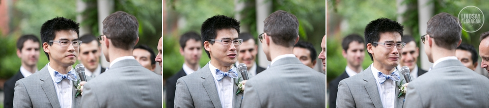 Same Sex Gay Wedding Ceremony Cambridge Groom Emotion