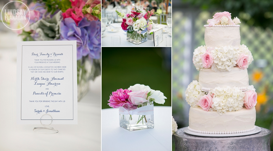 Wolfeboro Inn Wedding Details Flowers Cake Pink