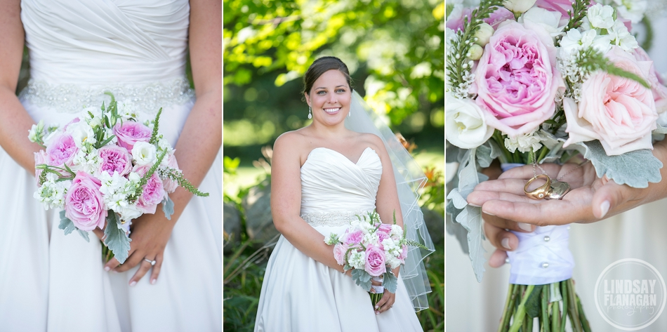 Wolfeboro Inn Wedding Bride Bouquet Pink