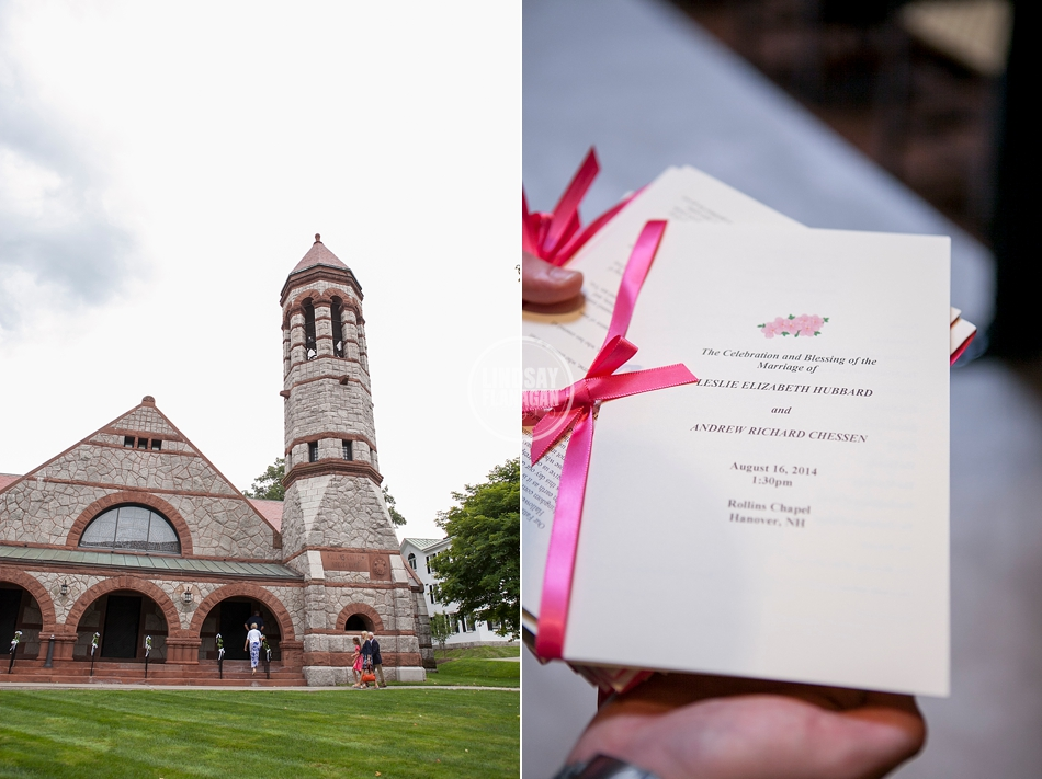 Rollins Chapel Dartmouth College Hanover New Hampshire Wedding