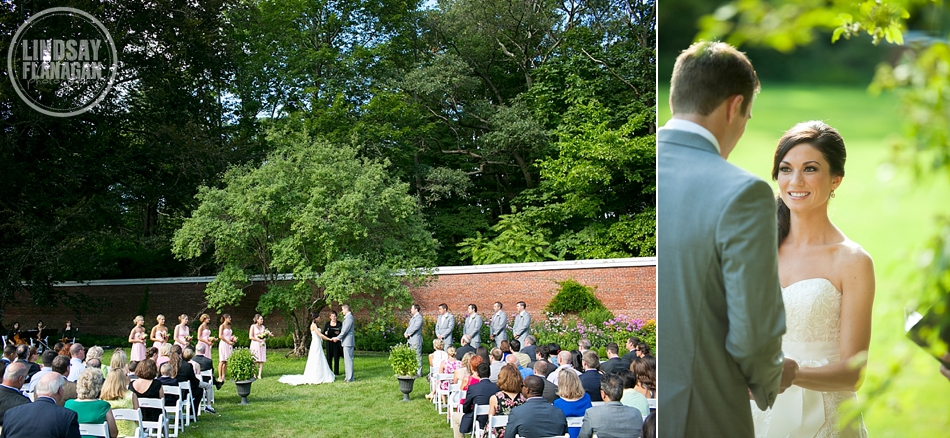 Lyman Estate Wedding Ceremony Outdoors